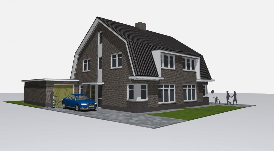 Nieuwbouw 2 onder 1 kap t hoefje lunteren - Kleine kap ...